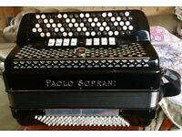 Paolo Soprani Five Row Button key Accordion