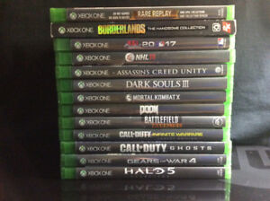 TONS OF XBOX ONE GAMES FOR SALE!