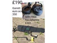 Garrett euro ace 350 selling for same price as a 250!!! Plus headphines FREE worth £30+