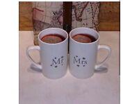 MR and MRS cups/mugs. Wedding gift