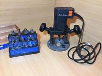 Black & Decker Router with 15X bits fully working
