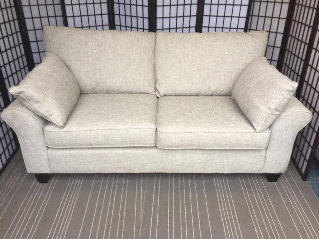 Harveys 3 Seater Cargo Grayson Sofa In Buxton Spearmint Rrp 1398 Grey