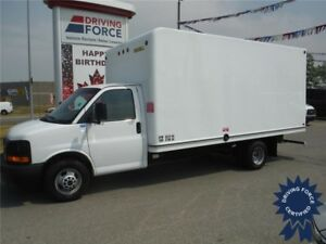 2015 GMC 16ft Cube Van - Shelving - Cargo to Cab Access - CVIP