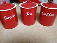Linea Storage jars - Tea/Coffee​/Sugar/Biscuits/