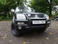 56 MITSUBISHI L200 WARRIOR LWB TWIN CAB 2.5 DIESEL 4X4,MOT JUNE 018,PART HISTORY,1 OWNER FROM NEW