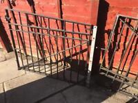 Driveway gate metal.