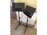 Pair of music stands.