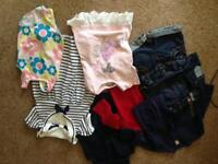 9-12 months girls clothes used