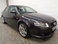 AUDI A4 S-LINE , 2007/57 REG , LOW MILES + FULL HISTORY , YEARS MOT , FINANCE AVAILABLE , WARRANTY