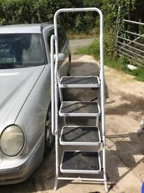White step ladders