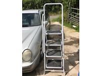 White step ladders