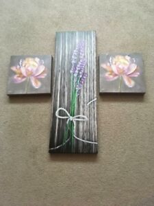 3 Flower canvas pictures