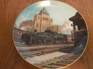 Christian Bell Porcelain Limited Edition Collector's Train Plate
