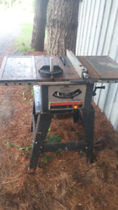 SEARS/CRAFTSMAN TABLE SAW WITH STAND