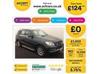 Mercedes-Benz ML250 FROM £124 PER WEEK!