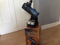 Sky-watcher heritage telescope. In box with super 10mm and super 25 wide angle lenses.