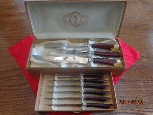 Vintage Connoiseurs Choice Carving & Steak Knife Set:  Only $25!