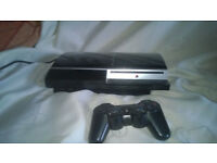 PS3 playstation working but sold as spares due to fan issue