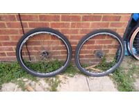 Front and Rear Diamondback Wheels with Tyres and Tubes for Mountain Bike/ Hybrid
