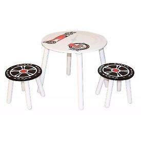 Speed Racer Table and Chairs kids stools and table new boxed