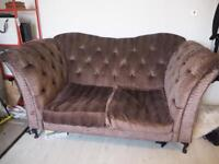 Double Seater Sofa Brown Pattern