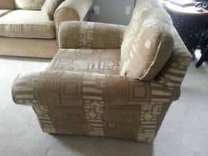 Microfiber couch and matching armchair