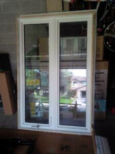 Nice modern large window with screen