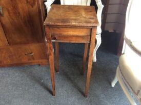 Vintage oak sewing box table