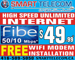 BELL FIBER UNLIMITED INTERNET, FREE WIFI MODEM & INSTALLATION