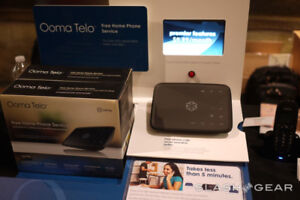 Ooma Telo Home Phone Service VoIP Phone Device + Wireless Unit