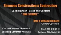 Simmons Costruction...call today!