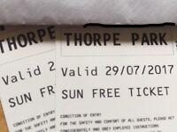 Thorpe park tickets x 2