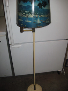Vintage Floor Lamp with Retro Shade