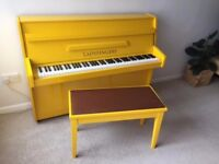 YELLOW HIGH GLOSS UPRIGHT ACOUSTIC PIANO!