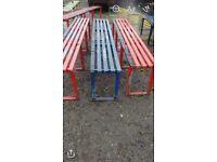 Galvanised steel bench