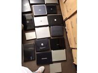 Joblot 17 laptops, spares repairs, bag of charger and covers etc