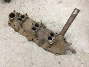 3 Deuce Edelbrock Intake For Flathead V8 Ford Original Piece