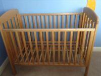 Mamas and Papas solid wood cot