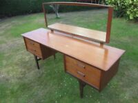Vintage 1960s A. Younger Ltd Teak dressing Table with mirror