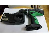 Hitachi cordless drill & CHARGER 18v DVD 18 DCL2 NO BATTERIES