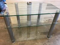 """Glass TV stand. Fits TVs up to 42"""""""
