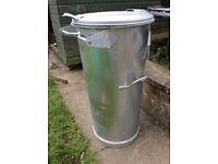 Very heavy duty-galvanised steel,..storage container-animal feed etc