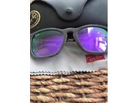 Genuine UNIQUE RAYBANS grey soft touch velvet with purple tint