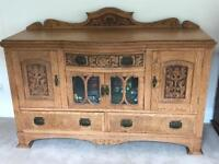 Antique Solid Oak Sideboard