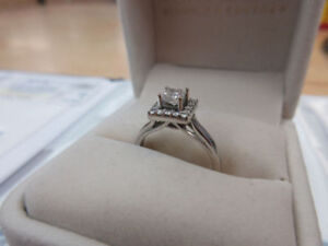 **$3,700.00 VALUE** 14k White Gold Diamond Engagement Ring