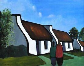 "IRISH ART ""OUR HOMESTEAD"" BY EILEEN GALLAGHER"