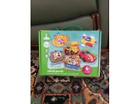 Elc Early Learning Centre 6 Piece Vehicle Puzzles with Carry Box