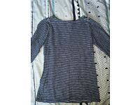 Womens Joules Striped Top Size 8