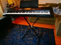 Casio WK 1300 keyboard with stand and hard case