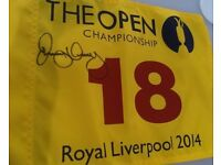 Rory McIlroy Signed 2014 Open Championship Pin-Flag